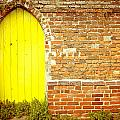 Yellow gateway by Tom Gowanlock