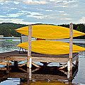 Yellow Kayaks by Susan Leggett