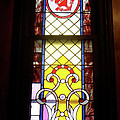 Yellow Stained Glass Window by Thomas Woolworth