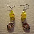 Yellow Swirl Follow Your Heart Earrings by Jenna Green