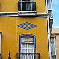 Yellow Tile Building In Cadiz Spain by Eva Kaufman