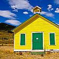 Yellow Western School House by James BO Insogna