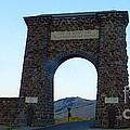 Yellowstone Roosevelt Arch by Sue Karski