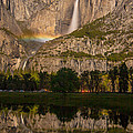 Yosemite Falls Moonbow Reflection by Marc Crumpler