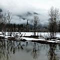 Yosemite River View In Snowy Winter by Jeff Lowe