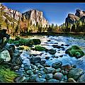 Yosemite Rocks In River by Blake Richards