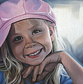 Young Girl In Pink Hat by Steven Tetlow