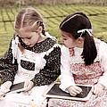 Young Girls Doodling by Gaspar Avila