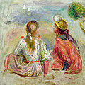 Young Girls On The Beach by Pierre Auguste Renoir