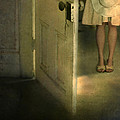 Young Lady By Open Door by Jill Battaglia