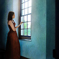Young Lady Looking Out Window by Jill Battaglia
