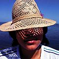 Young Lady With Straw Hat by Johnny Sandaire