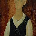 Young Man With A Black Waistcoat by Amedeo Modigliani