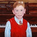 Young Piano Student by Phyllis Barrett