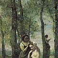 Young Woman At Her Toilet by Jean Baptiste Camille Corot