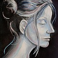 Young Woman In Profile-quick Self Study by AE Hansen