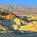 Zabriskie Point Death Valley by Dave Mills
