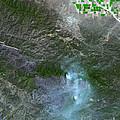 Zaca Fire In Southern California by Nasa