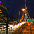 Zakim Bridge At Night by Joann Vitali