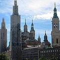 Zaragoza Plaza Ancient Bell Tower And Church Renovation In Spain by John Shiron
