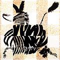 Zebra In Flight by Vicki Crone
