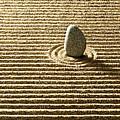 Zen Stone On Sand by Yuji Sakai