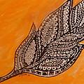 Zentangle Leaf by Gerri Rowan
