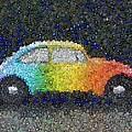 Zodiac Vw Bug Mosaic by Paul Van Scott