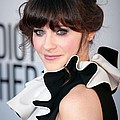 Zooey Deschanel  Wearing A Moschino by Everett