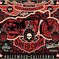 David Cook Los Angeles Prints - Artist