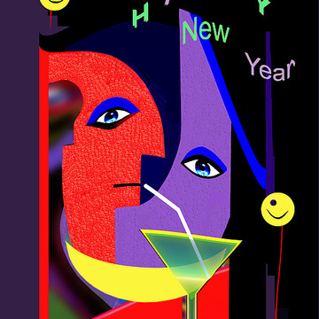 034 Happy New Year Greeting Card Collection