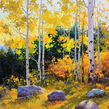 Aspen Trees and Sky