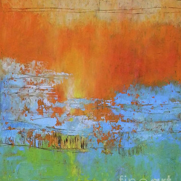 Cold Wax and Oil Abstract Paintings