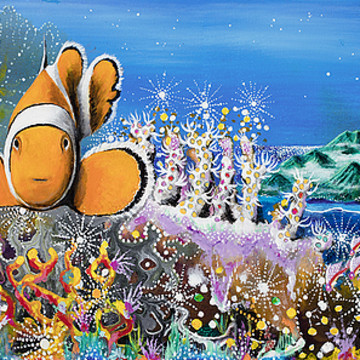 Fantasy Coral Reef Paintings