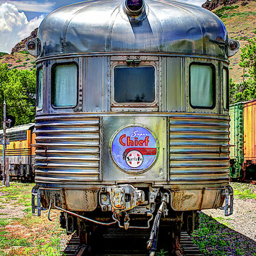 Historic Railroad Engines and Cars