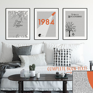 Lit Prints - Book Text Art For Your Wall