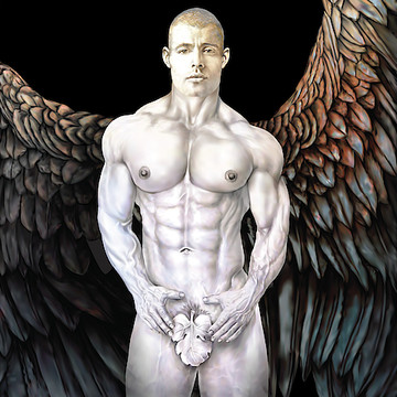 MALE ANGEL - Male Figure & Nude Drawings