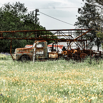 Vehicles in rusted glory