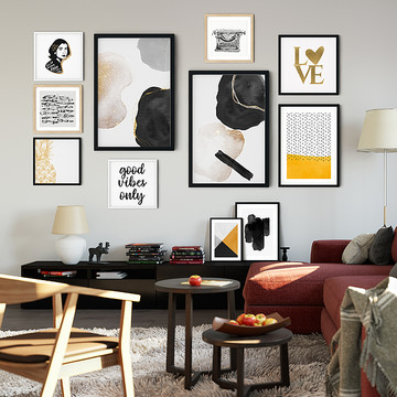 Wall Gallery Curation - Black & White