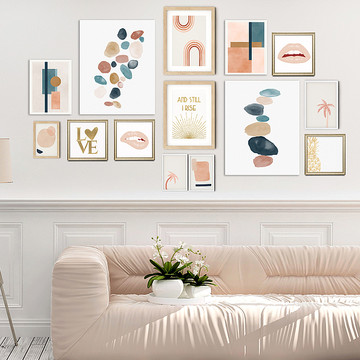 Wall Gallery Curation - Natural Tones