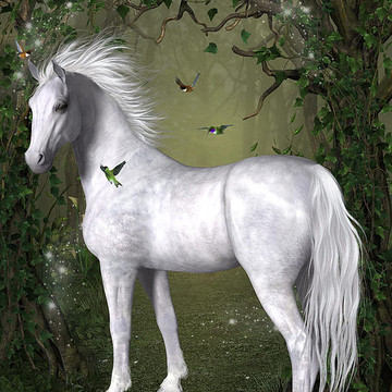3D Digital Art - Horses