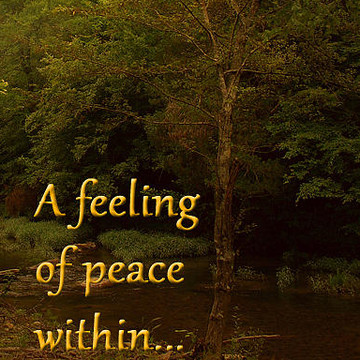 A feeling of peace within .... Golden Toned  Collection