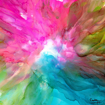 Abstract Alcohol Ink Paintings Collection