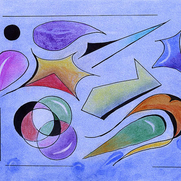 Abstract Art On Paper Collection