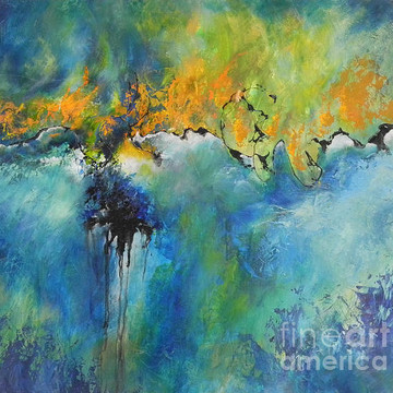 Abstract Paintings Using Palette Knife and Brush Collection