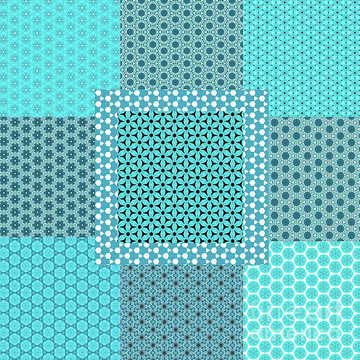 Abstract Turquoise Patterns 1 Collection