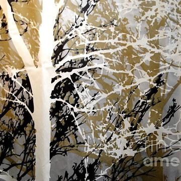 Abstracts  Forest - Black Tan Cream Series Collection