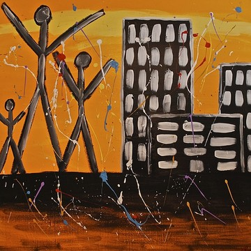 Acrylic Paintings - Lost Cities Collection