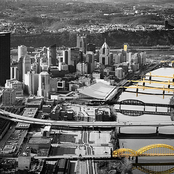Aerial photography  of Pittsburgh Collection