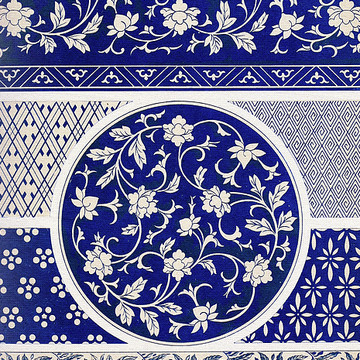 Antique Asian Floral Patterns Collection